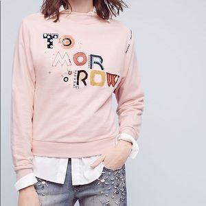 Anthropologie Postmark Tomorrow Pink Sweatshirt